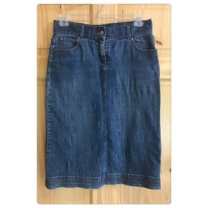 Christopher & Banks slit back denim skirt Sz 6